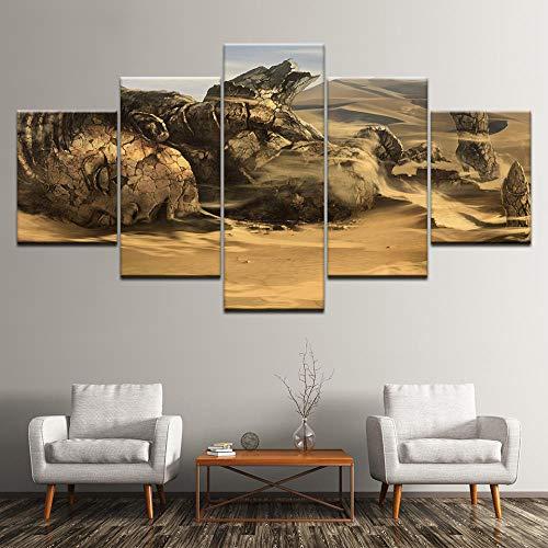 Bzdmly Canvas Schilderij Archeologie 5 muurschildering Modulaire Wallpaper Poster Print Woonkamer Home Decor 30x40cmx2,30x60cmx2,30x80cmx1