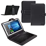 Vodafone Tab Prime 7/6 9.6 Zoll Tablet Tasche USB Tastatur Keyboard Hülle Cover QWERTZ Standfunktion Micro USB Schutzhülle