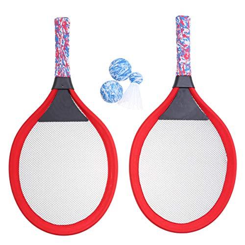 VICASKY Raqueta de Tenis para Niños Juego de Raqueta con 2 Pelotas de Tenis Pelotas de Bádminton para Niños Jardín de Infantes Escuela Primaria Interior Al Aire Libre Equipo de