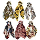 KUANGWENC Accesorios vintage para el pelo Lazos para niñas diademas coleteros bandana, banda para la cabeza, bandas para el pelo, corbatas para el pelo
