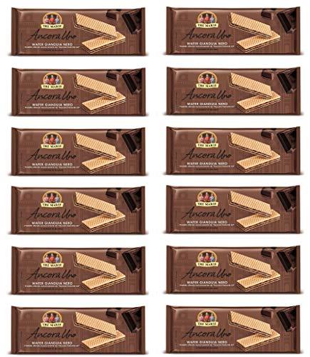 12x Tre Marie Ancora Uno Wafer Gianduia Nero mit Gianduja-Creme Produkt erhalten von Piemont Haselnuss IGP 175g