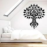 Raíz de árbol calcomanía de pared naturaleza tiempo de relajación yoga meditación habitación dormitorio decoración de interiores puerta ventana vinilo adhesivo arte papel tapiz