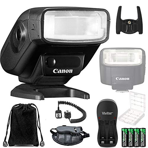 Canon 270EX II Speedlite Flash for Canon SLR Cameras (Black) and Basic Accessory Kit
