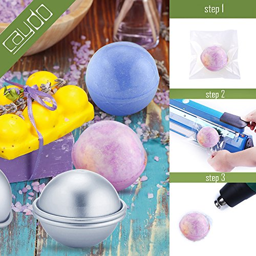 Caydo 200 Pcs 6 X 6 inch Shrink Wrap Bags for Soaps Bath Bombs and DIY Crafts