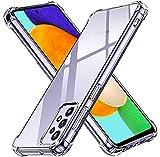 ivoler Funda para Samsung Galaxy A52 4G / 5G, Carcasa Protectora Antigolpes Transparente con Cojín Esquina Parachoques, Flexible Suave TPU Silicona Caso Delgada Anti-Choques Case Cover