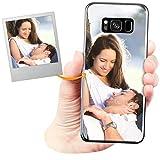 Coverpersonalizzate.it Cover Personalizzata per Samsung Galaxy S8con la Tua Foto, Immagine o Scritta - Custodia Morbida in TPU Gel Trasparente - Stampa di altissima qualità