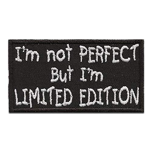 Parches - Biker cotizar frase I´m not perfect but I´m Limited Edition - termoadhesivos bordados aplique para ropa