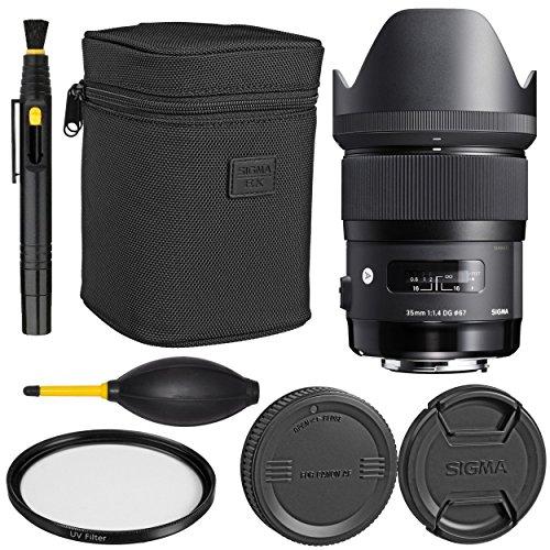 Sigma35mm f/1.4 DG HSM Art Lens for Canon DSLR Cameras + Essential Bundle Kit - International Version
