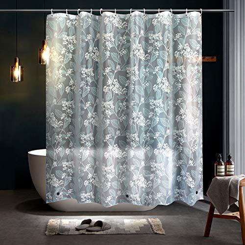 Duschvorhang 180x180cm Eva Transparent Duschvorhänge Anti-Schimmel Badevorhang Umweltfreundlich Waschbar Shower Curtains Halbtransparent Klar für Badezimmer