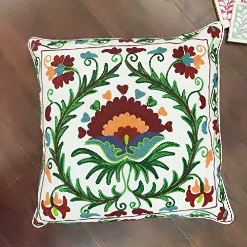 GAURI KOHLI Hand Geborduurd Kussen Cover In Mooie Woestijn Kleuren (Fits 20