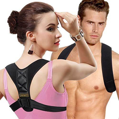 Posture Corrector for Women Men - Back Brace Shoulder Brace,Adjustable bodywellness Posture Corrector Brace Posture Belt Back Strap Bad Posture Upper Back Brace Posture Clavicle Support