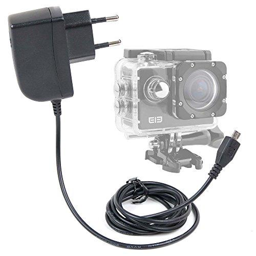 DURAGADGET Caricatore da Muro per Action Camera SmilyDirect | Sodao WiFi | Theoutlettablet | TopElek | Uvistar | Zenoplige 4K | ieGeek - Spina Europea E Connessione MicroUSB