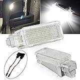 YMANNI luz de Placa Coche 2X 12V DIRIGIÓ Luz de proyector de Puerta de cortesía for Audi A3 /A4/A6/VW/Skoda pies Nido Luces Fantasma Sombra lámpara luz 6500k Blanco