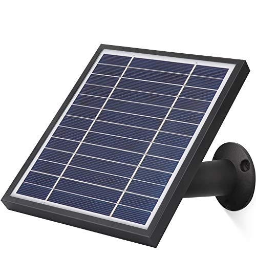 iTODOS Solar Panel Works for Arlo Pro and Arlo Pro 2, 11.8Ft Outdoor Power Charging Cable and Adjustable Mount,Not for Arlo Ultra and Arlo Pro3(Black)