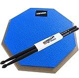 Keepdrum DP-BL Practice Pad blu Drum Pad 8mm filettatura + 1paio 5BB custodia Black Drum Sticks