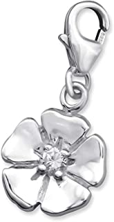 Sterling Silver Flower Petals Charm
