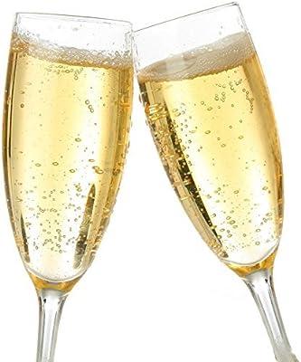 Circleware Champagne Flutes, Set of 4, 7 oz Best Selling, Vine Talls