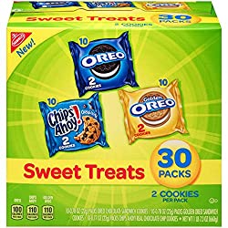 Nabisco Cookies Sweet Treats Variety Pack Cookies - with Oreo, Chips Ahoy, & Golden Oreo - 30 Snack