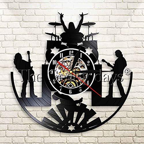 Rock music band reloj de pared rock music wwood mesa lámpara de mesa lámpara de mesa lámparas de mesa lámpara de mesa