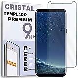 REY Protector de Pantalla para Samsung Galaxy S8, Cristal Vidrio Templado Premium