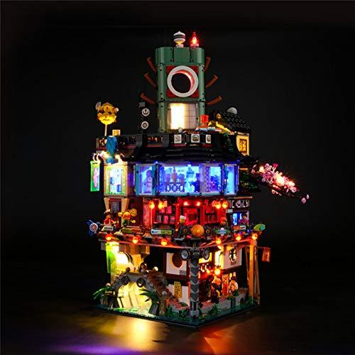 Juego de Luces LED alimentadas por USB Compatible con el Modelo de Bloques de construcción Ninjago City, Kit de iluminación Decorativa para Juguetes Lego 70620 para niños (no Incluido el Modelo)