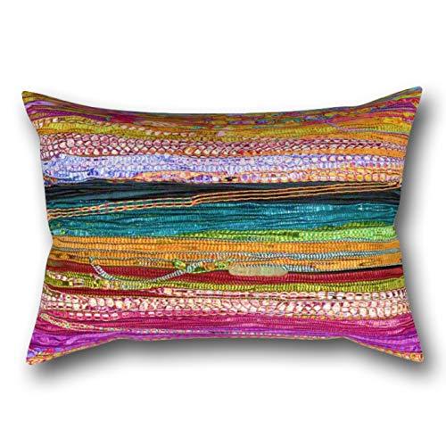 GYTOP Funda Cojín Colores Indios Funda De Almohada 50X75Cm