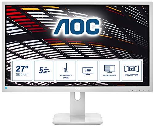 AOC 27P1/GR 68,5 cm (27 Zoll) Monitor (DVI, HDMI, IPS Panel, Displayport, USB Hub, 1920x1080, 5 ms Reaktionszeit, Pivot) grau