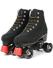 KYIS مزلاجات من الفراء الاصطناعي للجنسين عالية الجودة تصميم أحذية مزدوجة الصف، كلاسيكية بريميوم رولر سكيتس للنساء والرجال