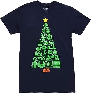 Nintendo Icons Holiday Christmas Tree Adult T-Shirt