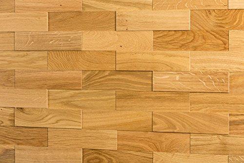 wodewa Paneles de Madera para Pared Roble Natural I 1m² Revestimiento de...