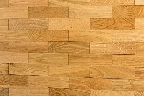 comparador Panel de pared de madera Wodewa Roble natural I 1m² Revestimiento de pared 3D Panel decorativo Interior Sala de estar de madera Cocina Dormitorio Mural I Aceitado