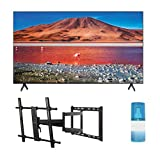 Samsung UN82TU7000 82' Class Ultra High Definition Crystal 4K Smart TV with a Walts TV Large/Extra Large Full Motion Mount for 43'-90' Compatible TV's and Walts HDTV Screen Cleaner Kit (2021)