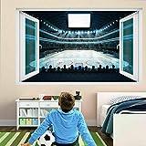 Pegatinas de pared Pista de hockey sobre hielo Arena Deportes Arte de la pared Pegatinas Mural Calcomanía Póster de vinilo