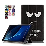 skytar samsung galaxy taba 10,1'' cover - slim copertura protezione in pu pelle custodia con supporto cover per samsung galaxy tab a 10,1''(2016) sm-t580n/t585n tablet (dont touch)
