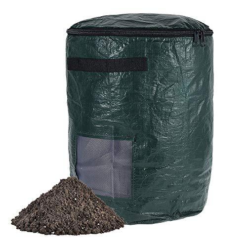PE Compost Ferment Bag Garten Abfallentsorgung Kompostbeutel Gartenabfalleimer Kompost Tasche Umweltkompostbeutel Kitchen Waste Disposal Composter Bin Bio Abfalltasche (43 Liter)