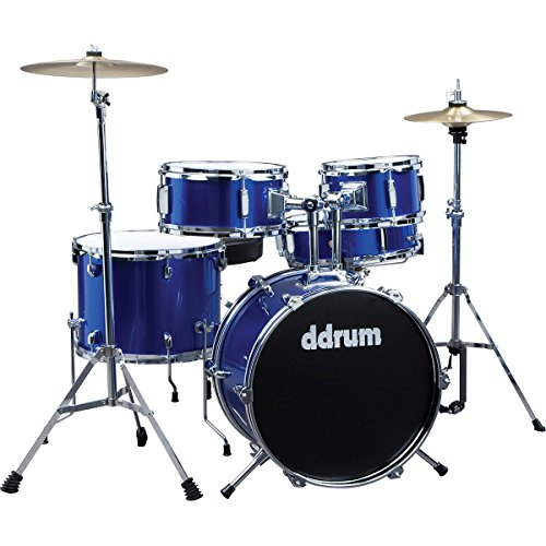ddrum D1 Junior Complete Drum Set with Cymbals, Police Blue