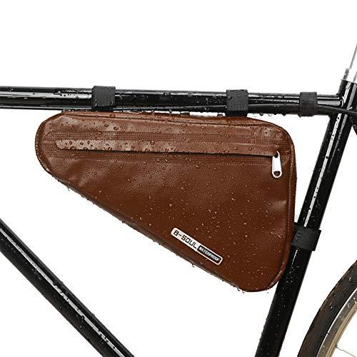 Sawpy Bolsa de Cuadro Triangular para Bicicleta, Bolsa de Almacenamiento para Ciclismo, Bolsa para sillín, Bolsa para Cuadro de Carretera MTB, Bolsa Triangular, Accesorios para Bicicleta