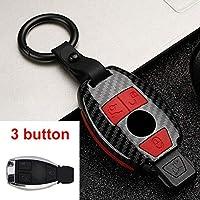 ABS シリコーン車のキーケースメルセデス ・ ベンツ AB R G クラス GLK GLA W203 W210 W211 W124 w202 W204 W251 W463 W176 SLK AMG GL-3 Button Carbon Red