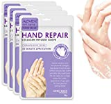 Hands Moisturizing Gloves (4 Pairs), Hand Skin Repair Renew Mask, Hand Spa Mask for Dry, Cracked Hands, Moisturizer Hands Mask, Hand Cream Mask