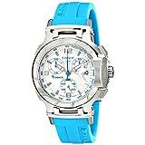 Reloj Mujer Tissot T0482171701702 T-Race T-Race analógico cronógrafo blanco y azul