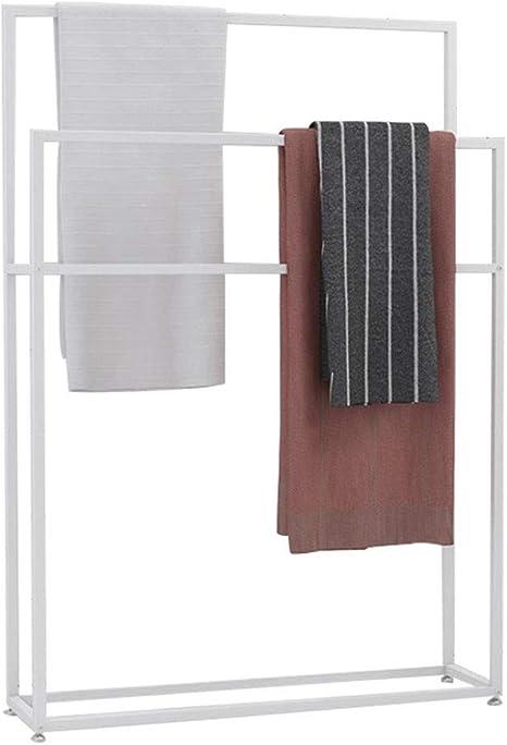 piscinaA toallero de Metal tendedero Organizador de Cocina para ba/ño Dormitorio lavander/ía MOMD Toallero de pie Independiente toallero de Barra con 2 Barras