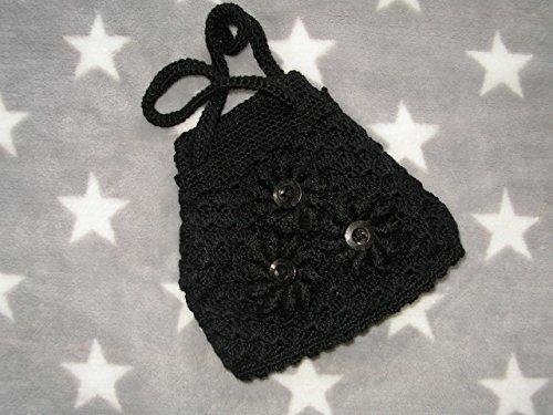 kleiner Pompadour in schwarz * Handtasche