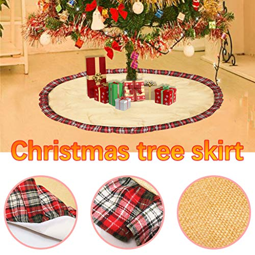 GUCIStyle Christmas Tree Skirt, Christmas Ornaments for Holiday Indoor Outdoor Home Office, Christmas Decorations