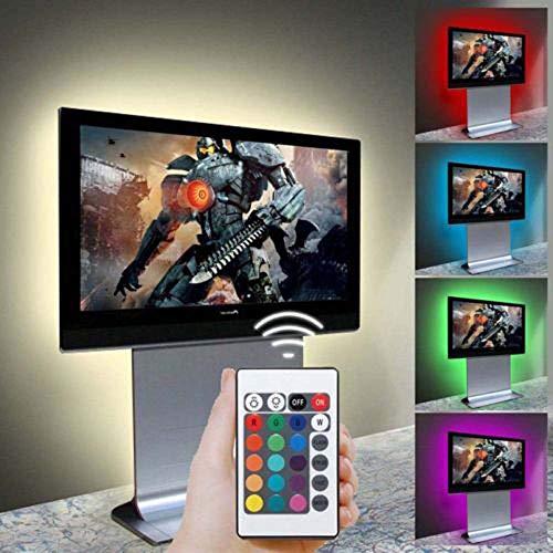 Watopi - Tira de luces LED con alimentación USB, 90 luces RGB para iluminación de fondo de TV