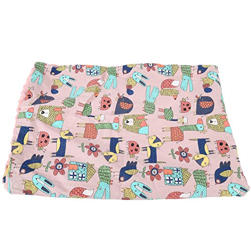 Manta para cochecito de bebé Manta suave para almohadillas para pañales Manta para cochecito infantil(Pink Magic Animal City)