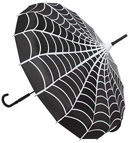 Sourpuss Spiderweb - Ombrello Pagoda