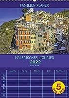 Malerisches Ligurien (Wandkalender 2022 DIN A2 hoch): Mit guter Laune nach Ligurien (Familienplaner, 14 Seiten )