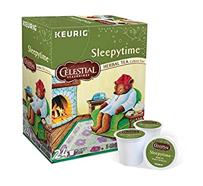 Keurig Tea and Ice Tea Pods K-Cups 18 / 22 / 24 Count Capsules ALL BRANDS / FLAVORS (Twinings/Chai/Celestial/Lipton/Tazo/Diet Snapple) (24 Pods Sleepytime Herbal Tea)
