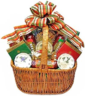 Thanksgiving Gift Basket | Meat, Cheese, Crackers, Nuts, Fudge and More