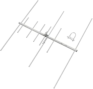 HYS Dual-Band 9.5/11.5dBi 100W Yagi Antenna 8 Element Beam 2 Meter/70 cm VHF/UHF Outdoor Yagi Antenna with U-Bolt for 144/...